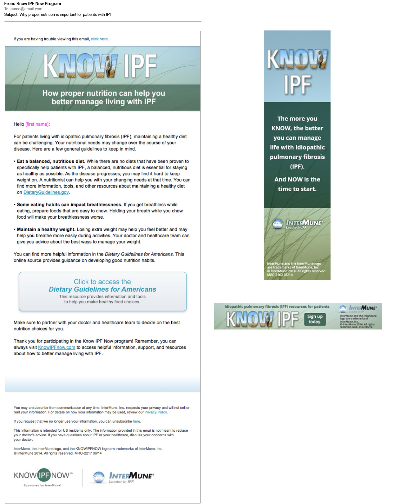 KNow IPF blasts and banners